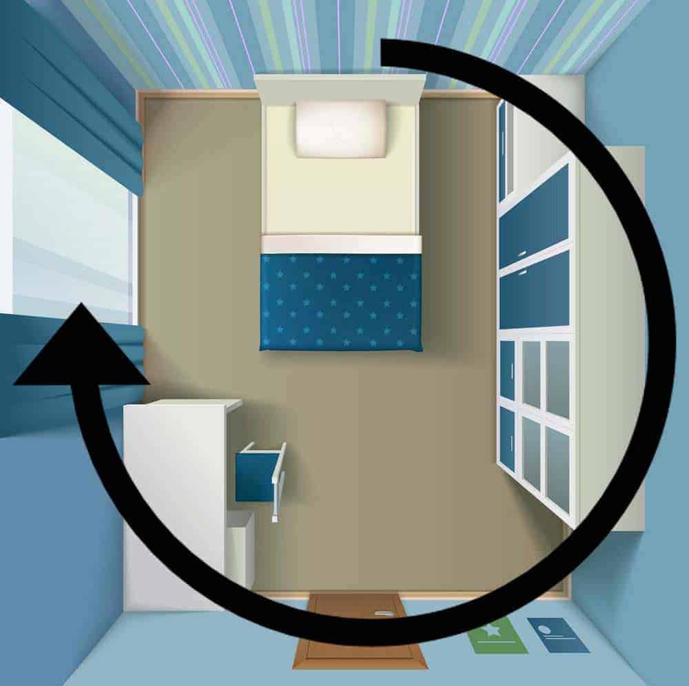 Huoneen siivous-suunta
